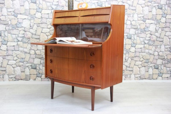 Teak Sekretär Kommode Danish Design Writing Cabinet 60er